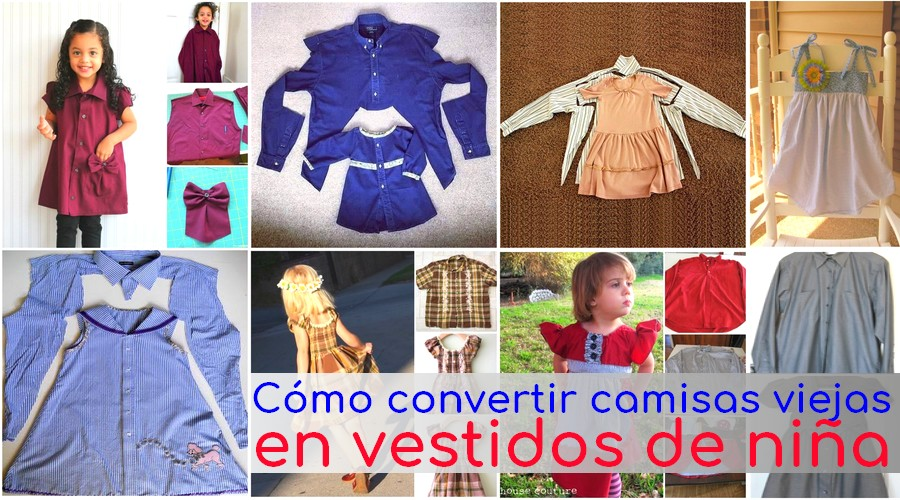 convertir camisas en vestidos nina