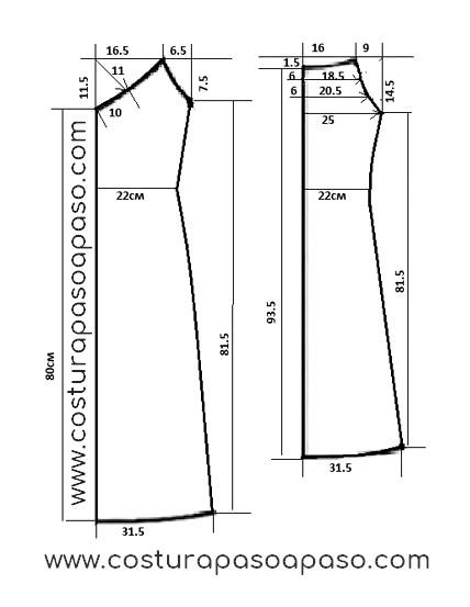 Moldes De Vestido Casual Con Mangas Triangular Costura
