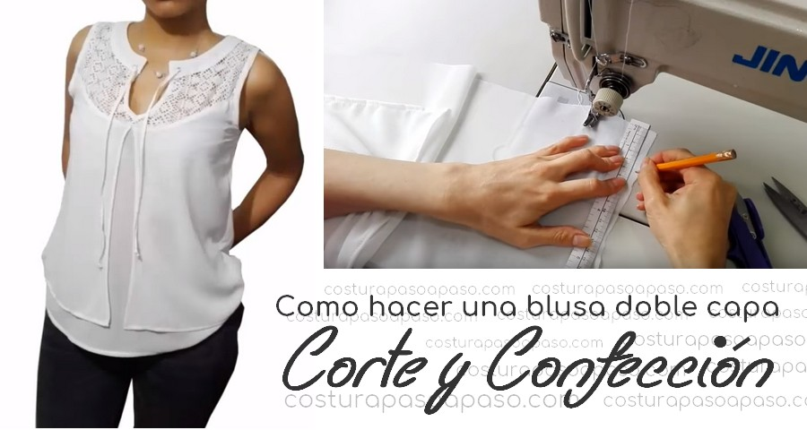Como hacer una blusa doble capa - Corte y Confección - Costura Paso ...