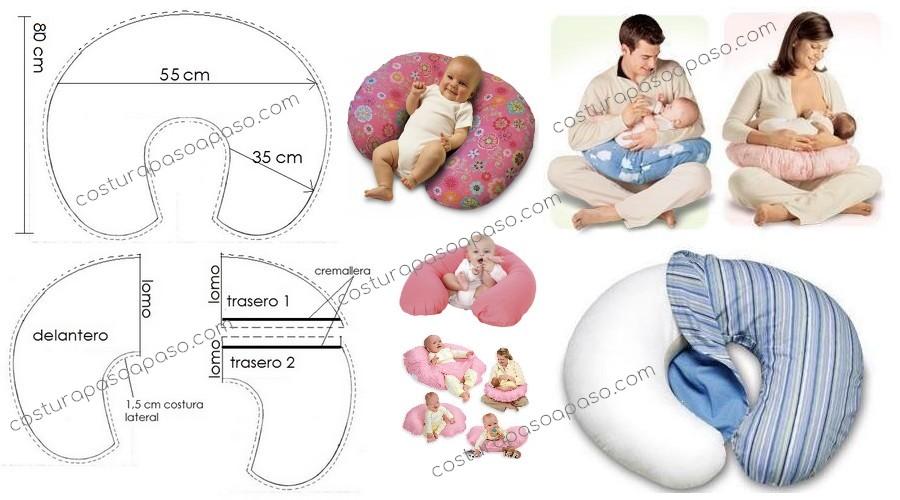 Como hacer cojines para bebés (con moldes) - Costura Paso a ...
